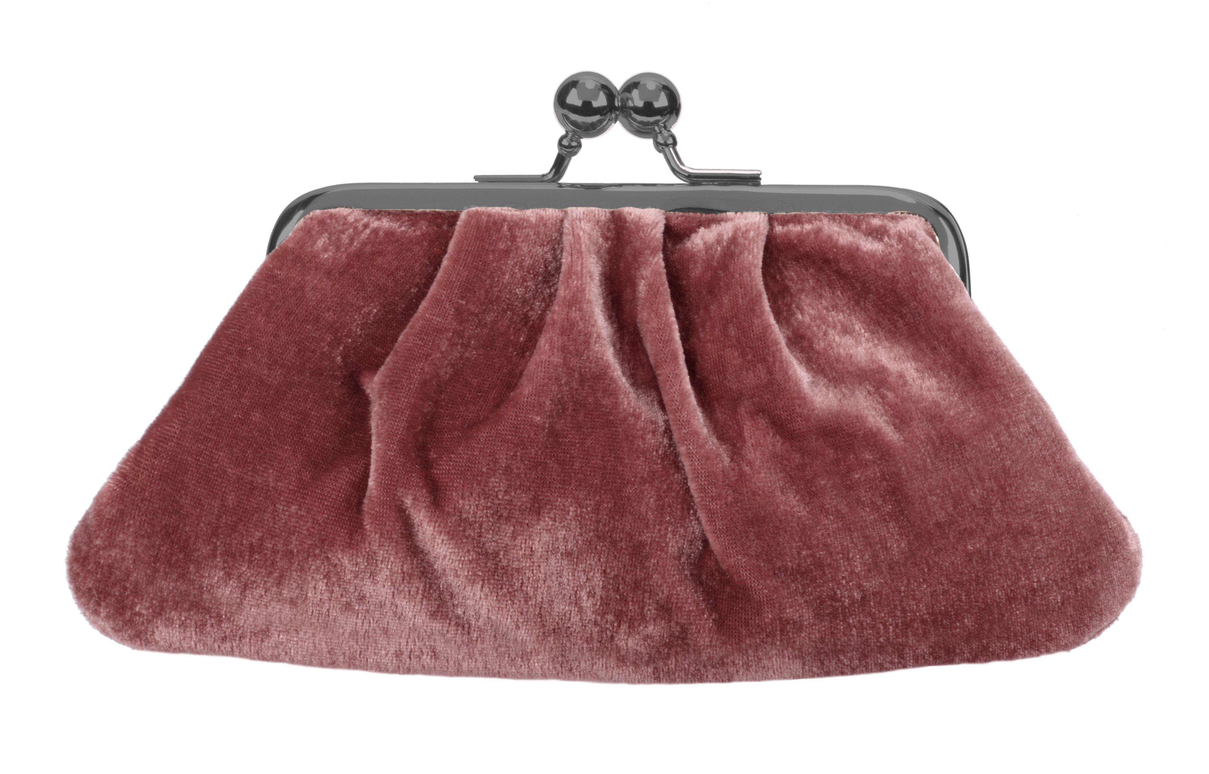 Jazz Rose Velvet Midi Purse