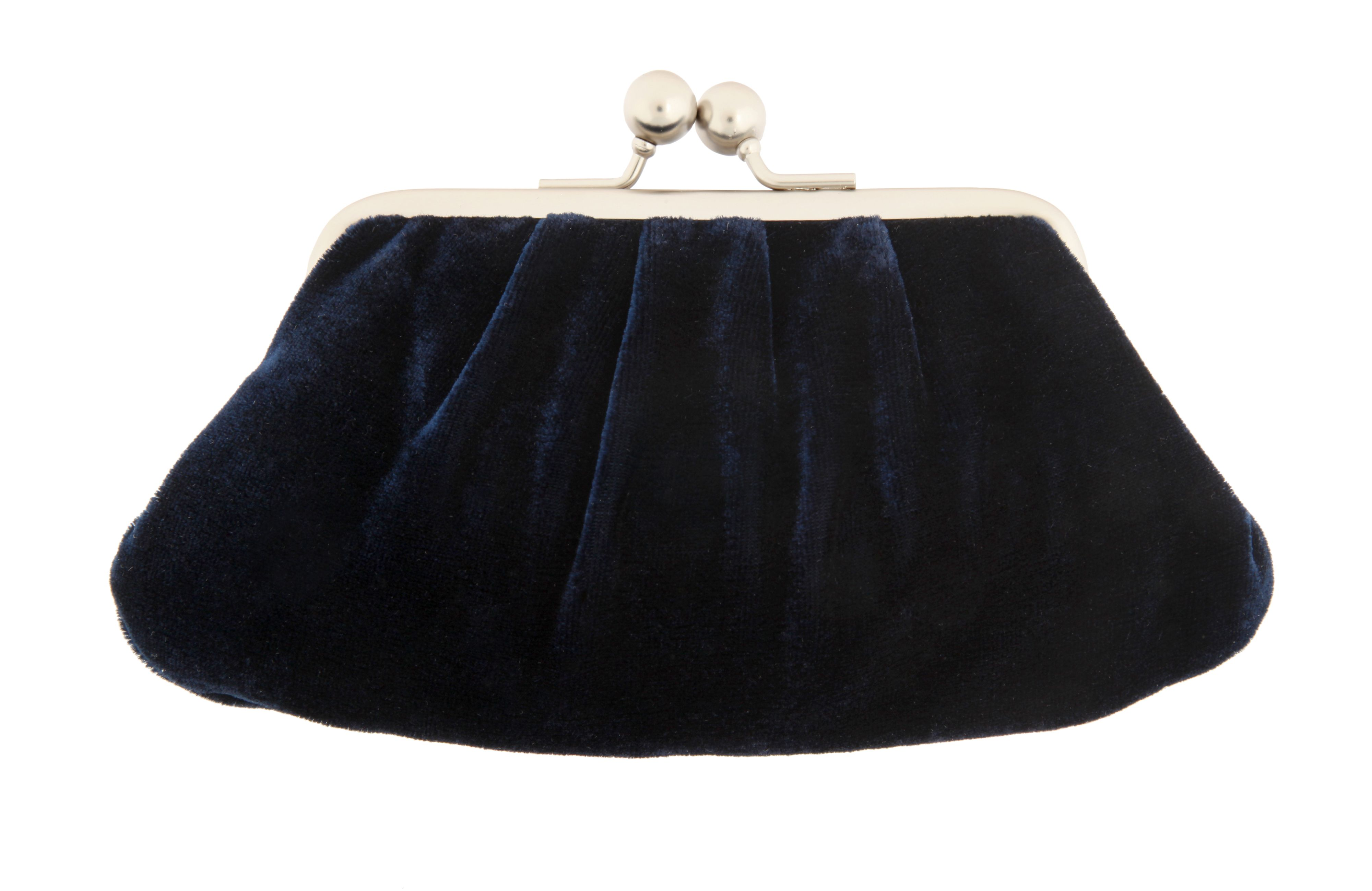 Jazz Navy Velvet Midi Purse