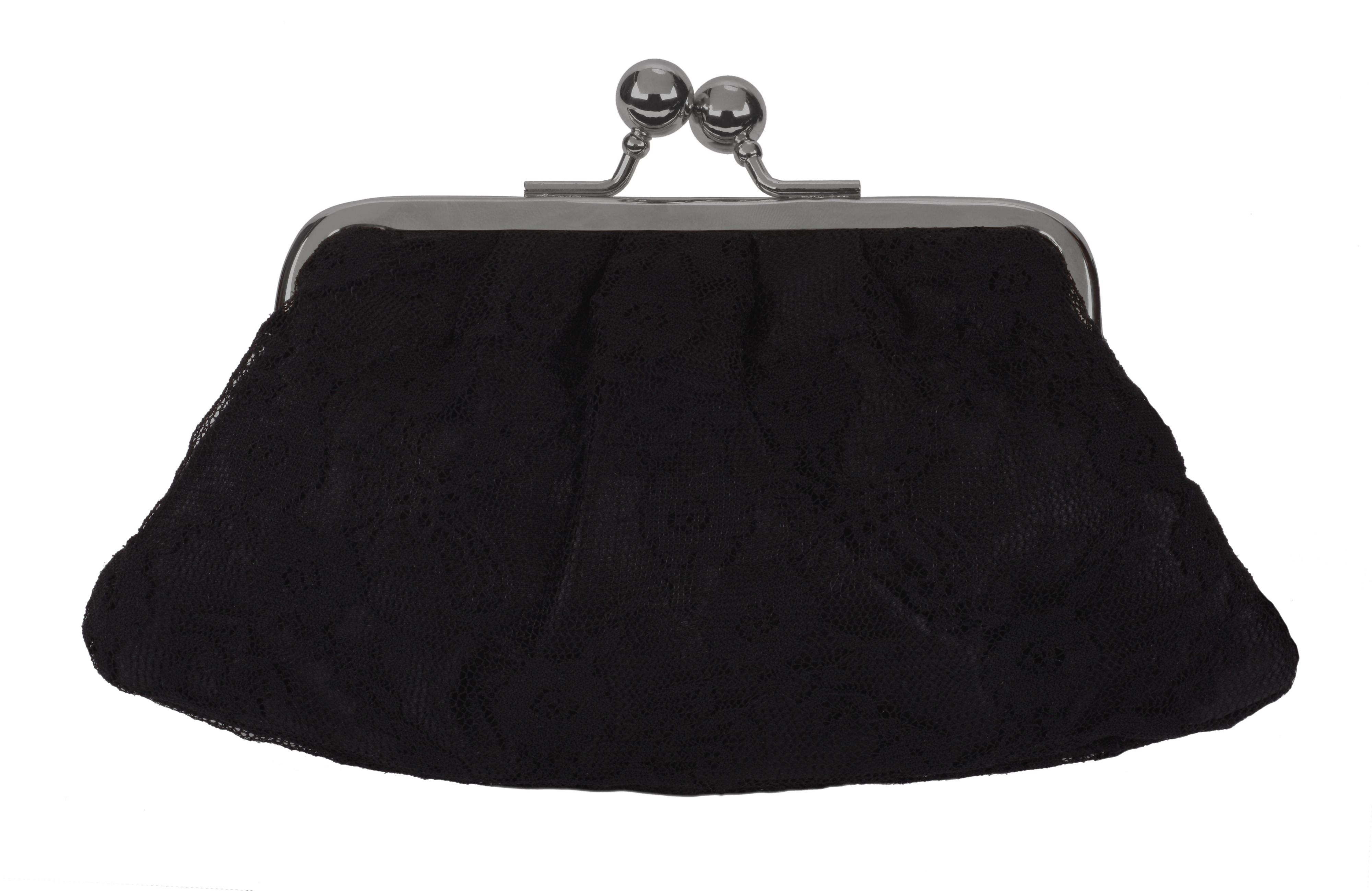 Latin Black Lace Midi Purse