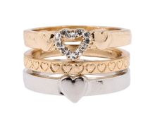Contrast Heart Ring