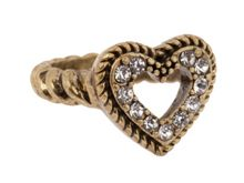 Gold Encrusted Heart Ring