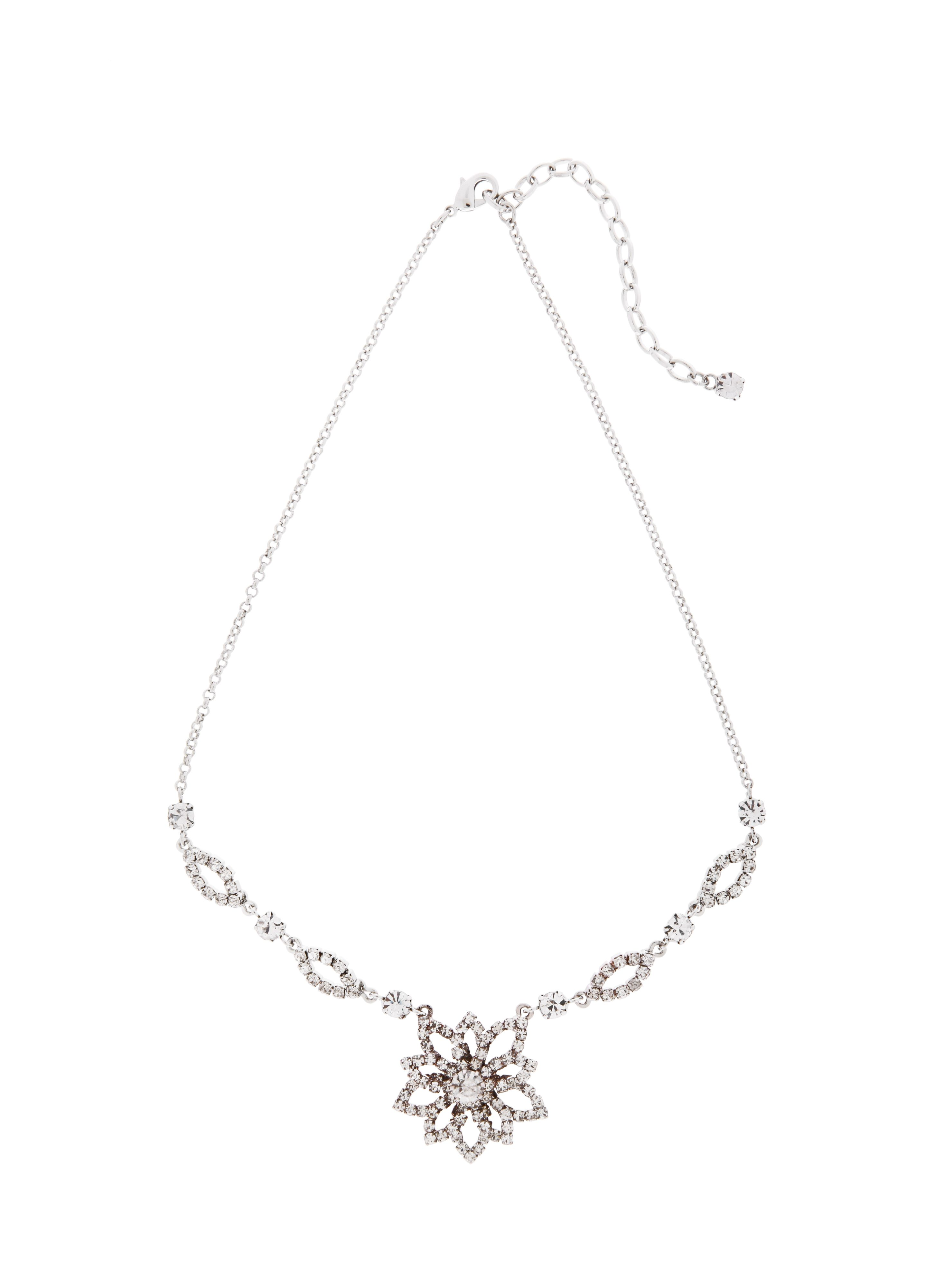 Lotus Flower Crystal Necklace