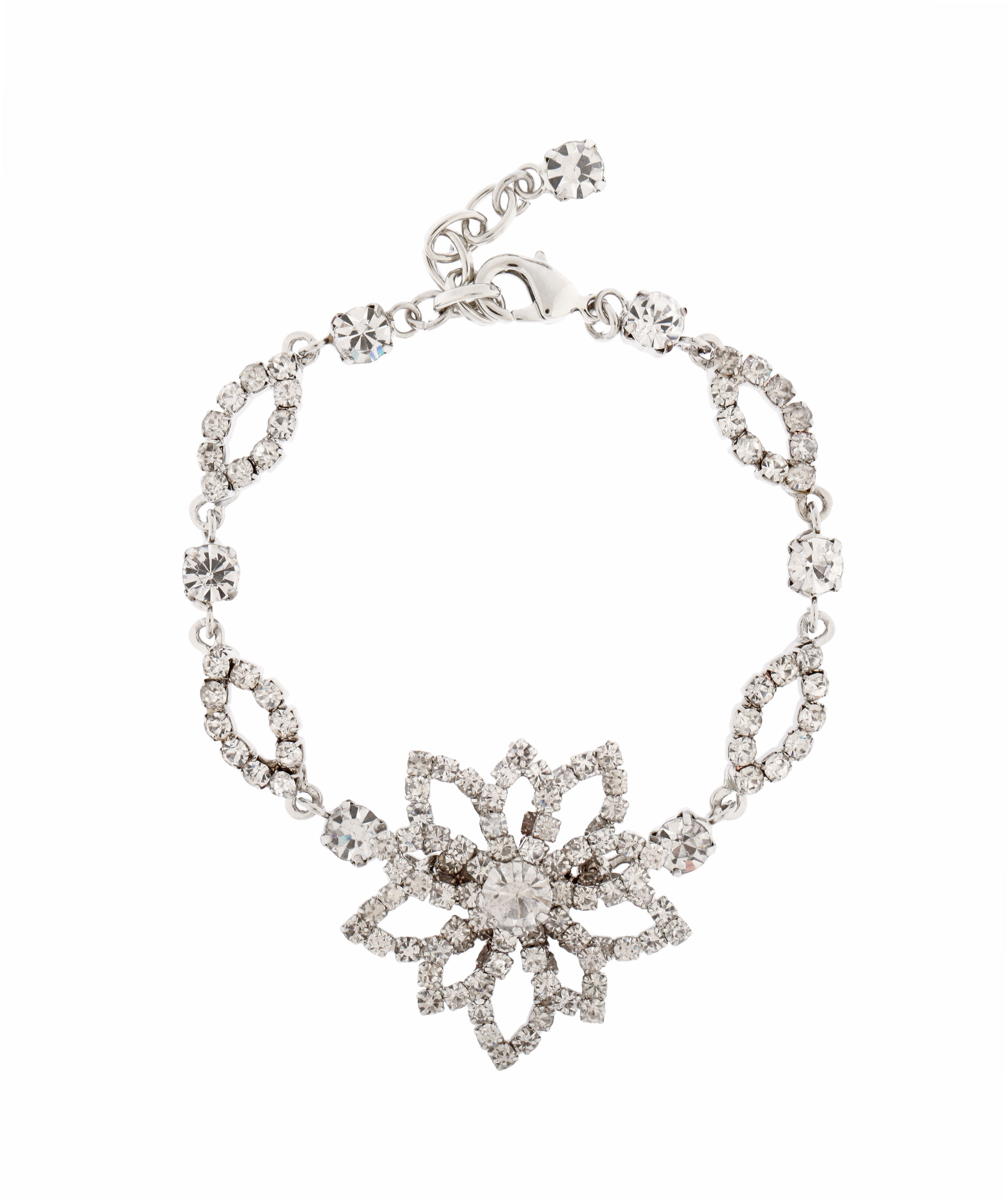 Lotus Flower Crystal Bracelet