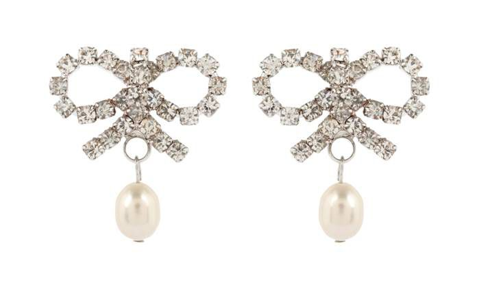 Pretty Bow Pearl Earrings