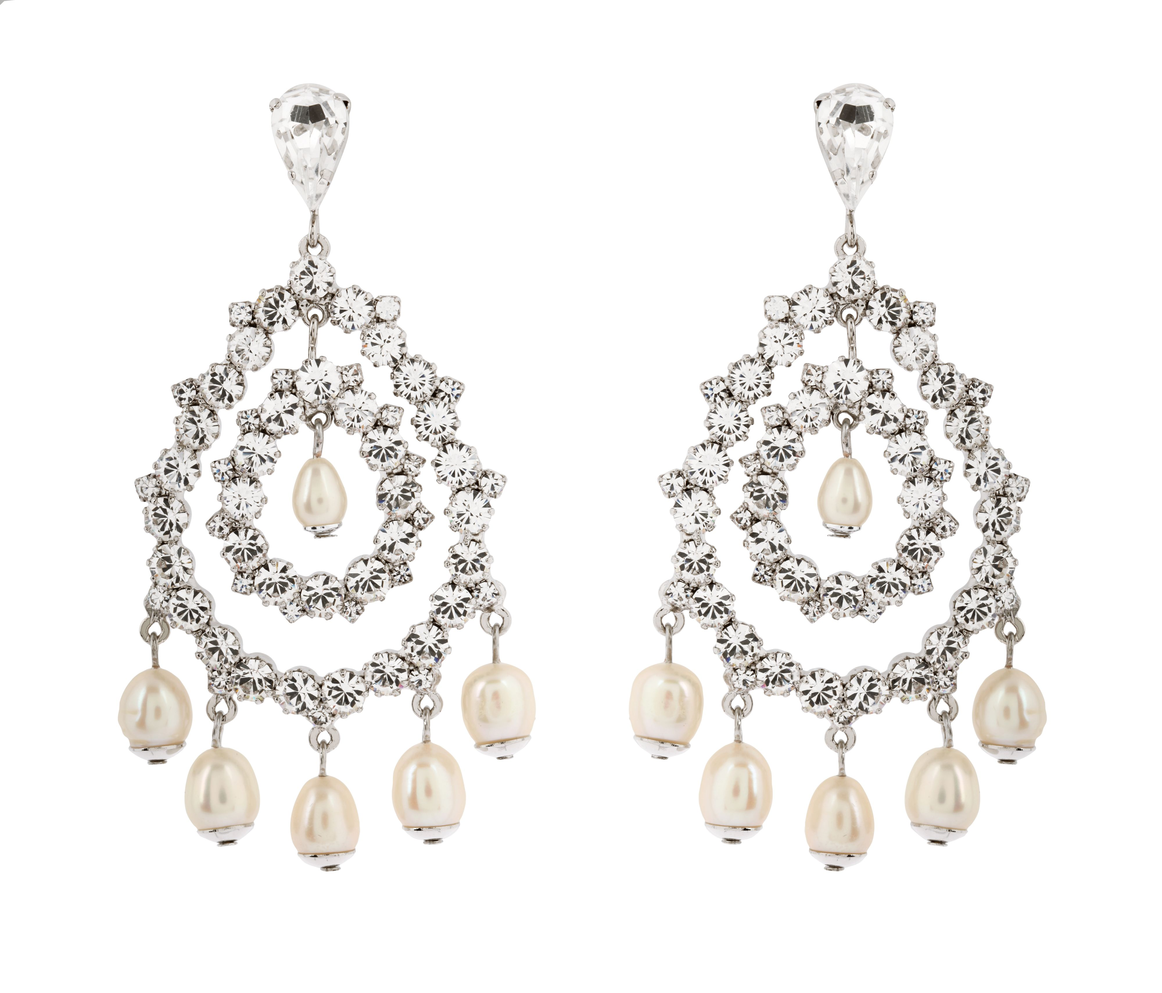 Chandelier Pearl Drop Earrings