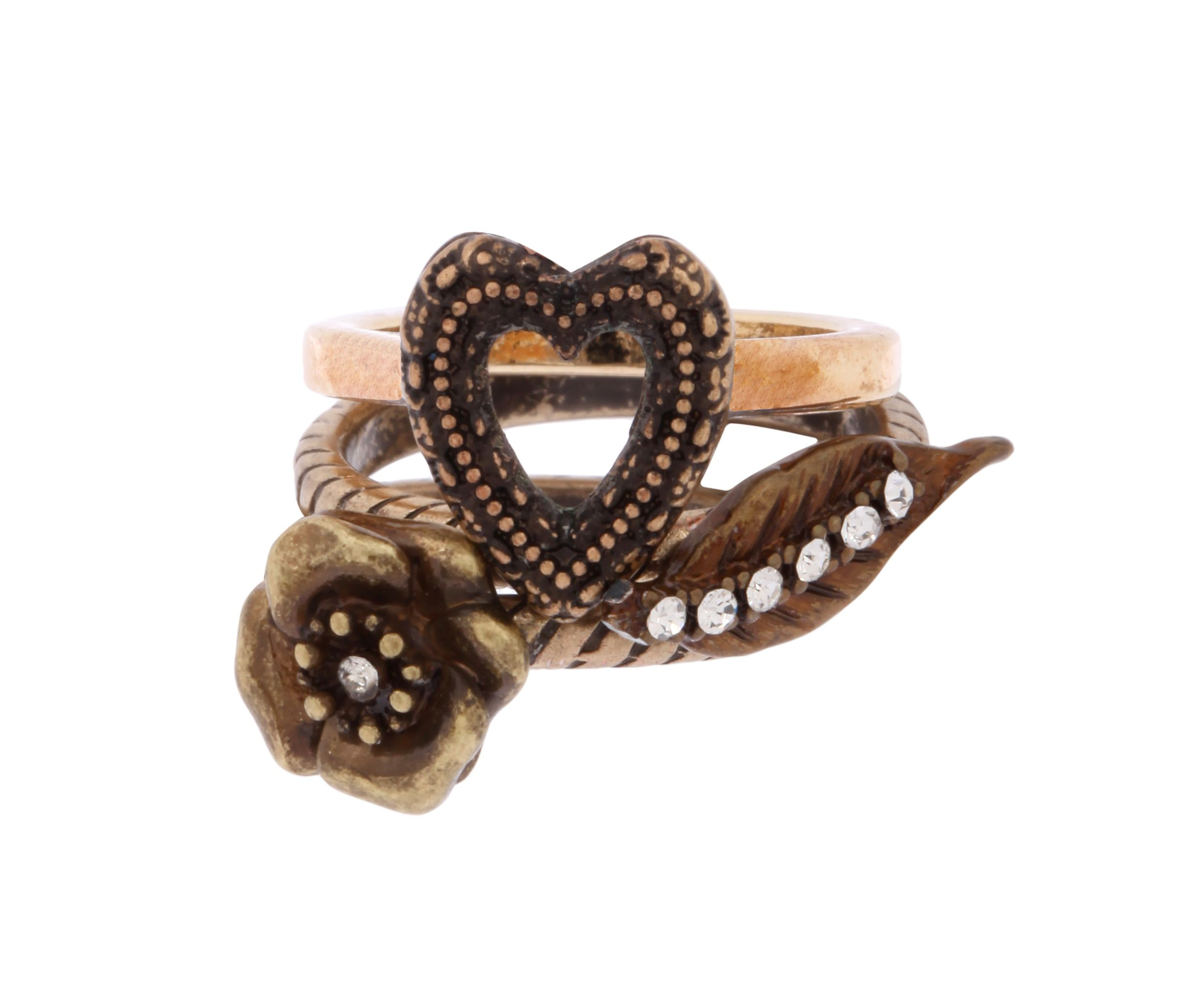 Set Of 3 Cabaret Stacker Ring Set