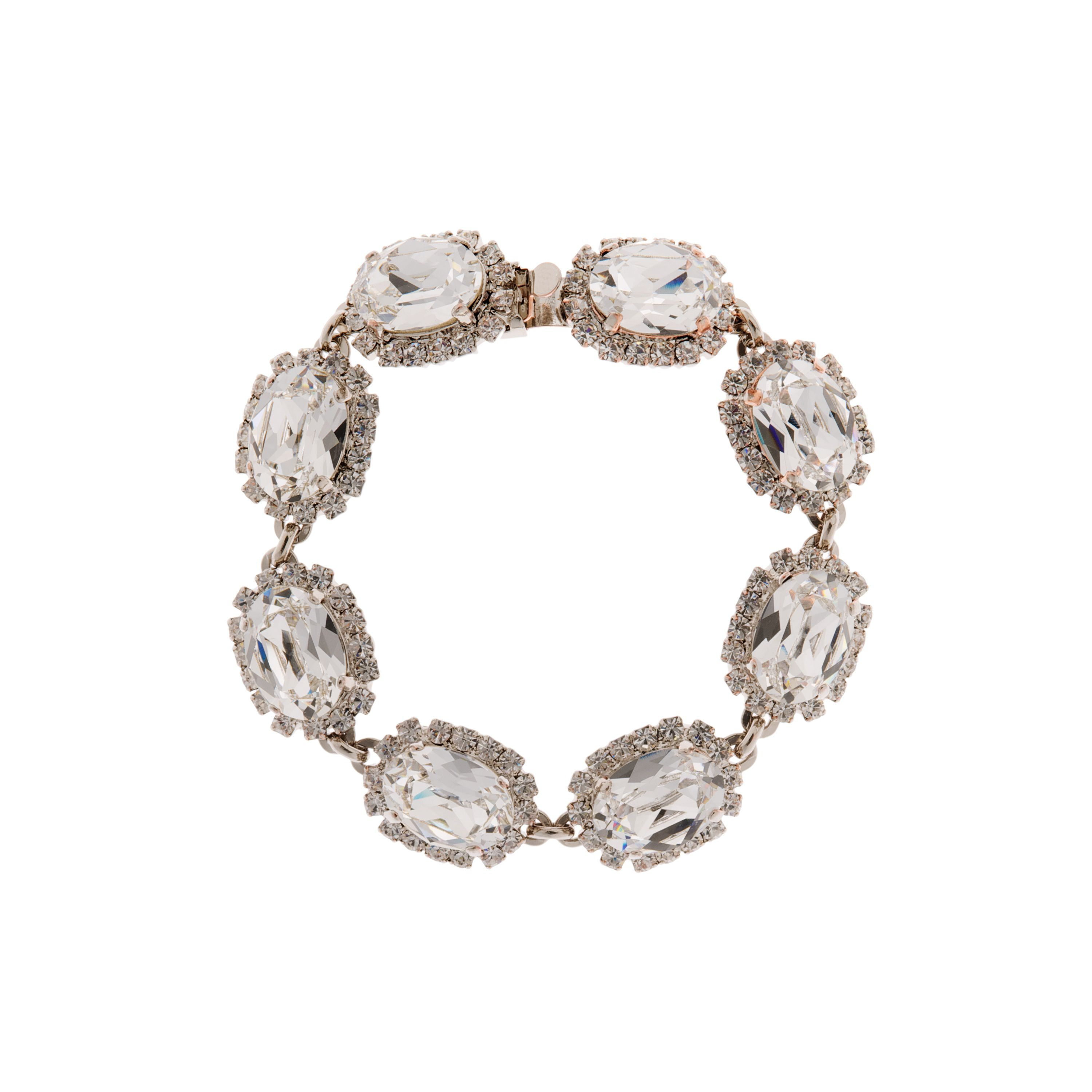 Bridal crystal oval stoned bracelet