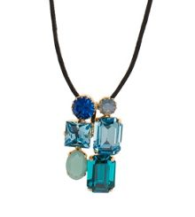 Crystal craze necklace blue