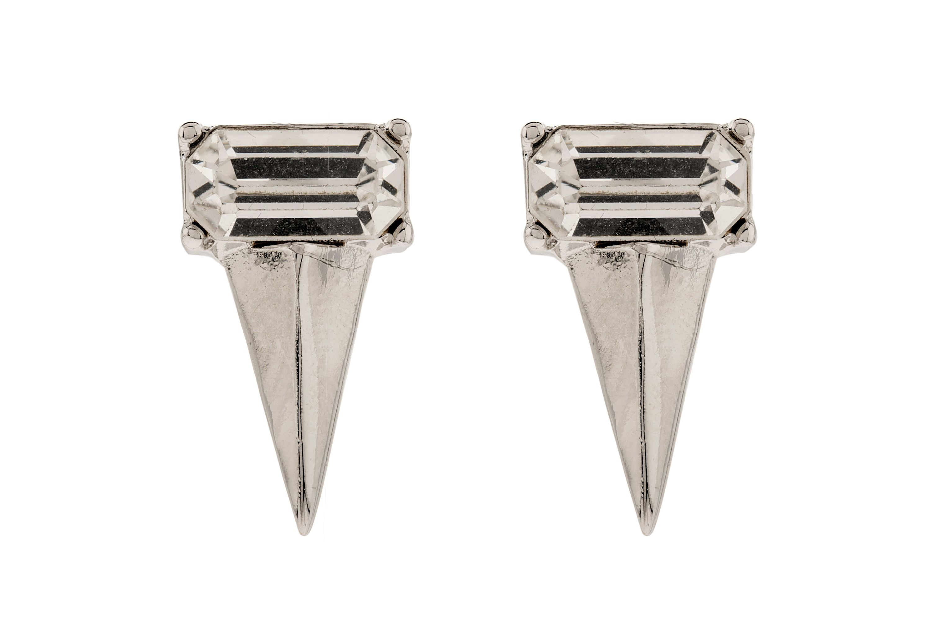 Moonlight geometric spike stud earrings