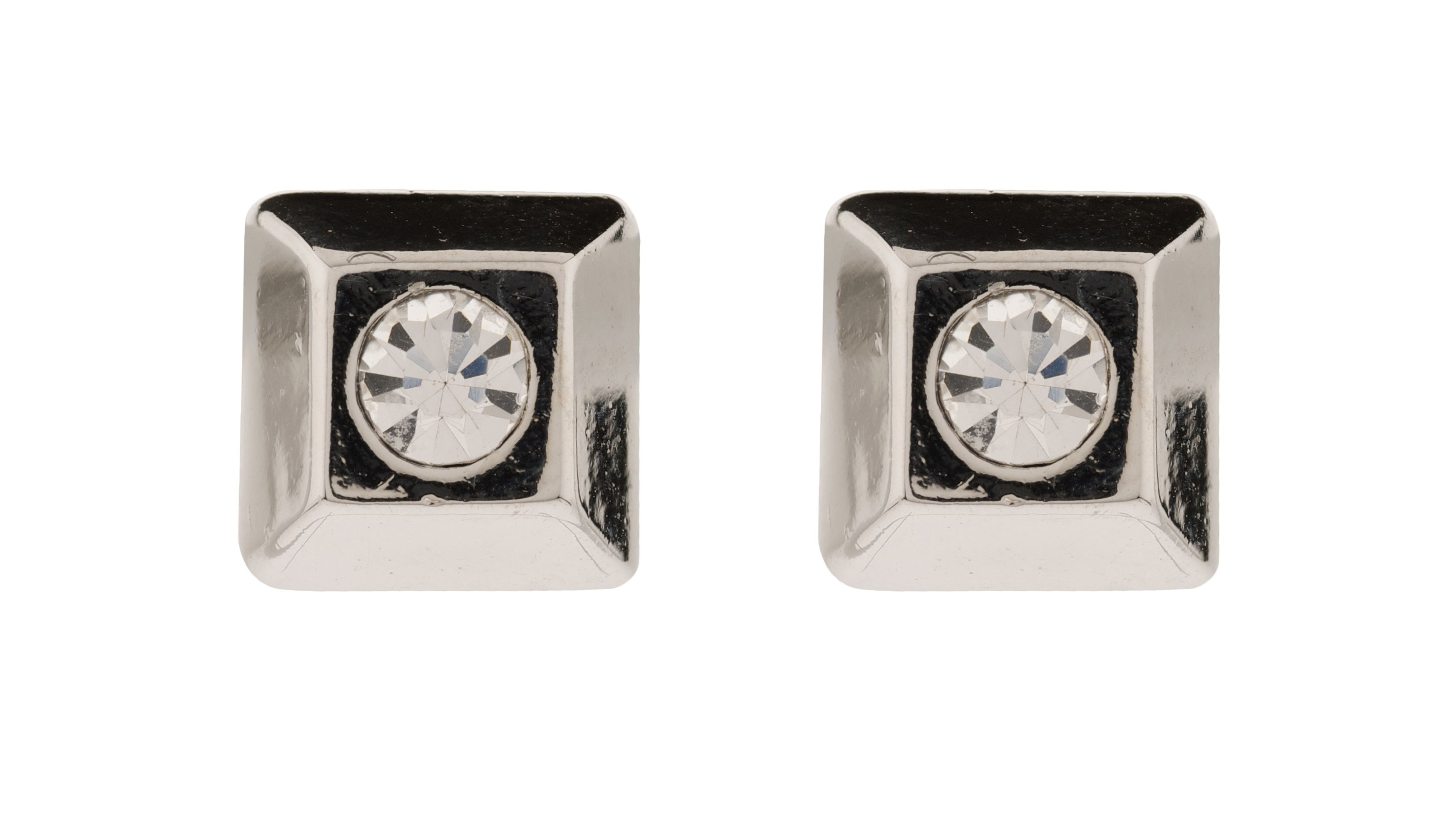 Moonlight square crystal stud earrings