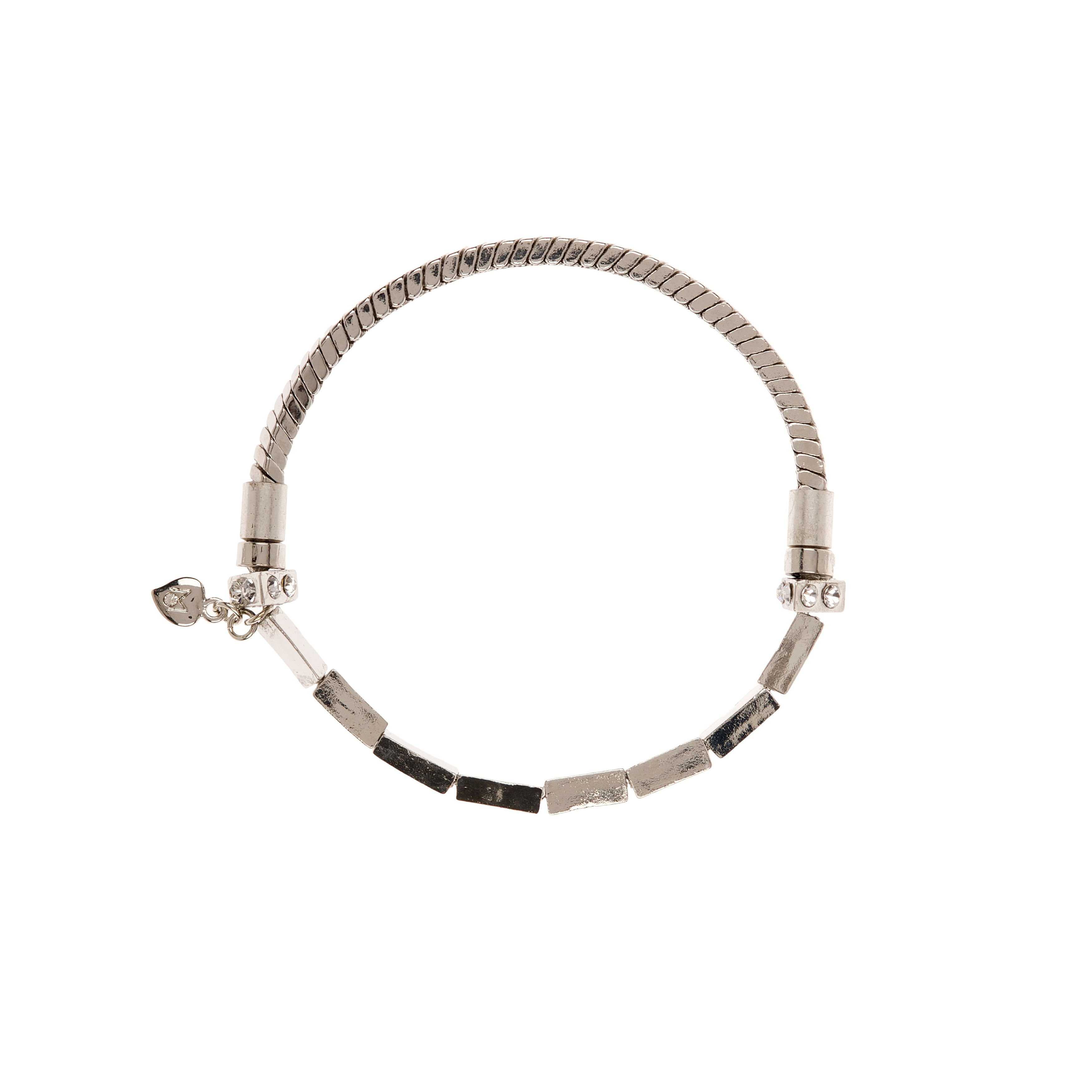 Moonlight silver chain stretch bracelet