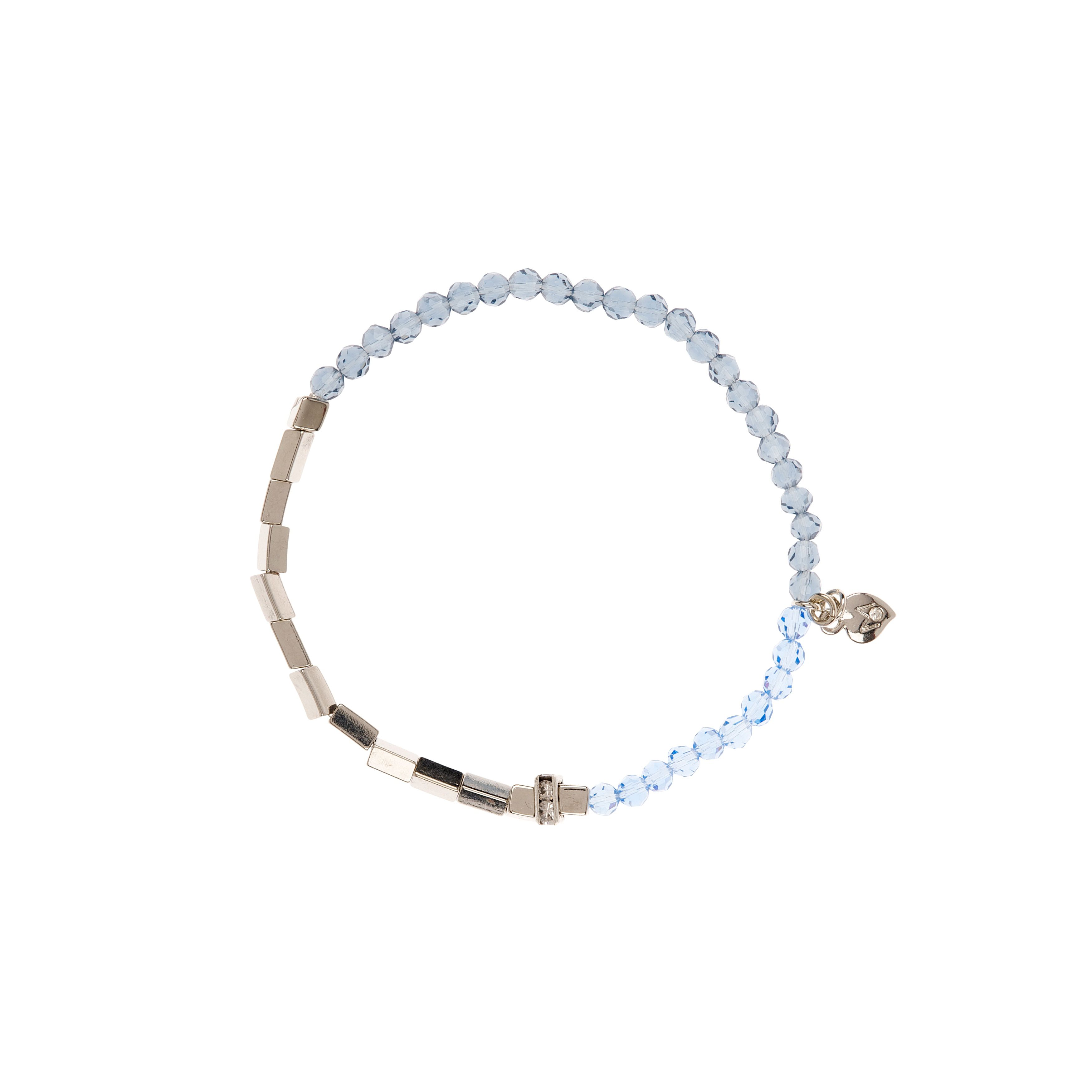 Moonlight small silver & cobalt stretch bracelet