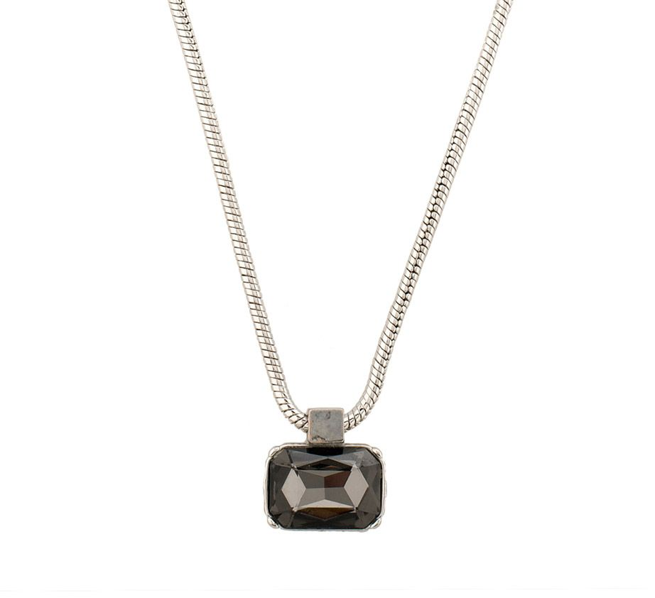 Moonlight single square stoned necklace