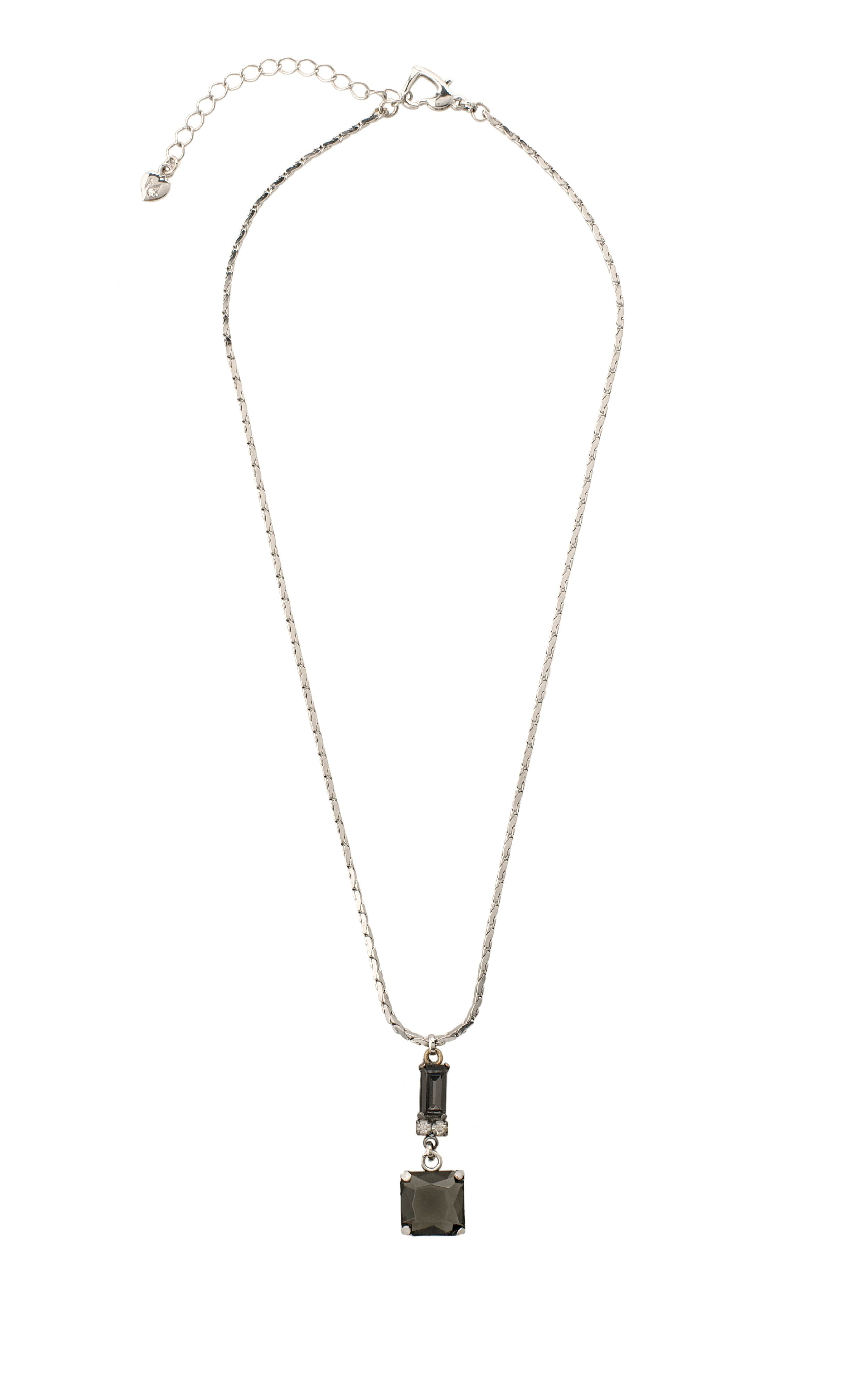 Kaleidoscope black diamond drop necklace