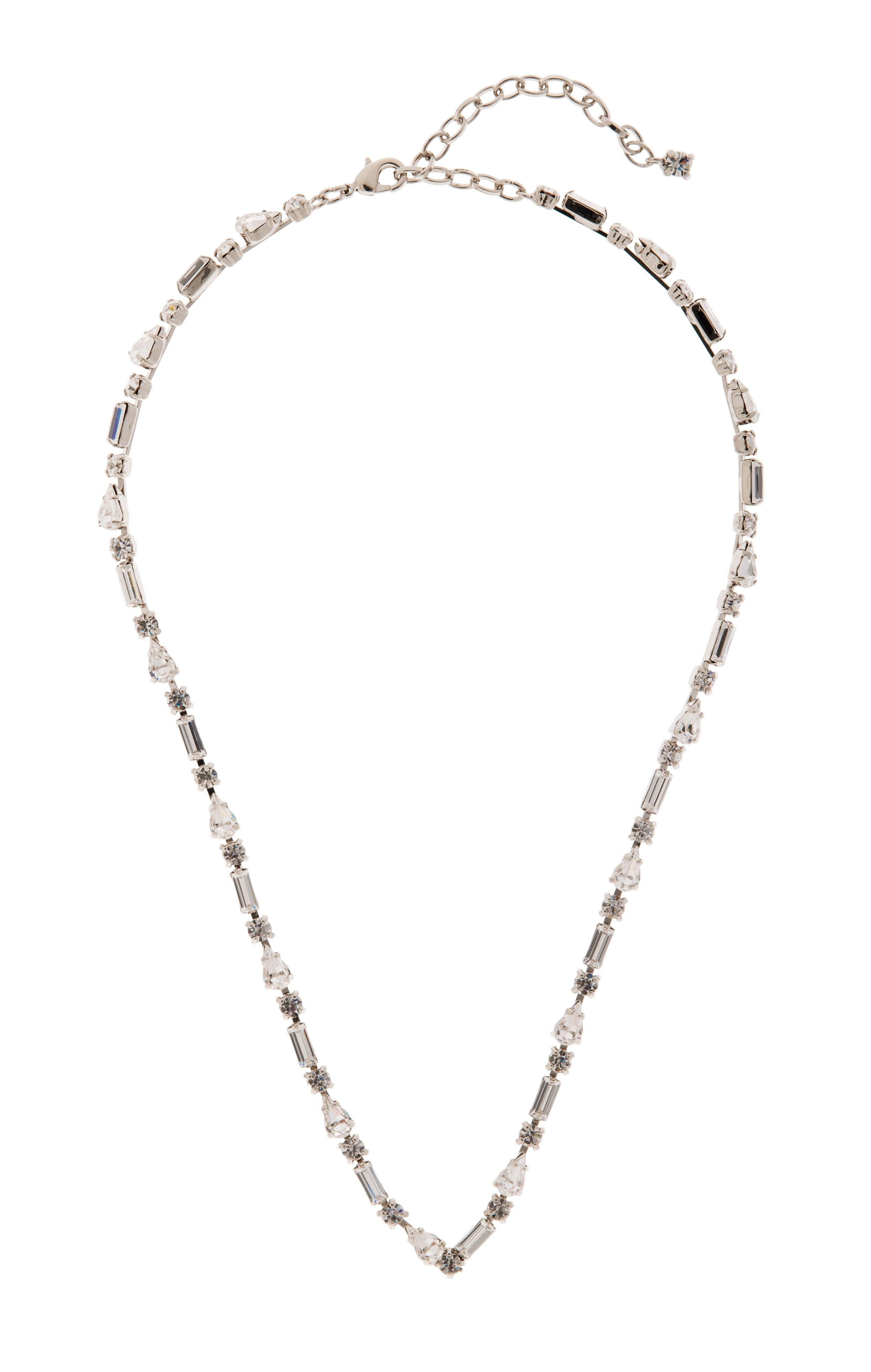 Crystal v-shaped necklace