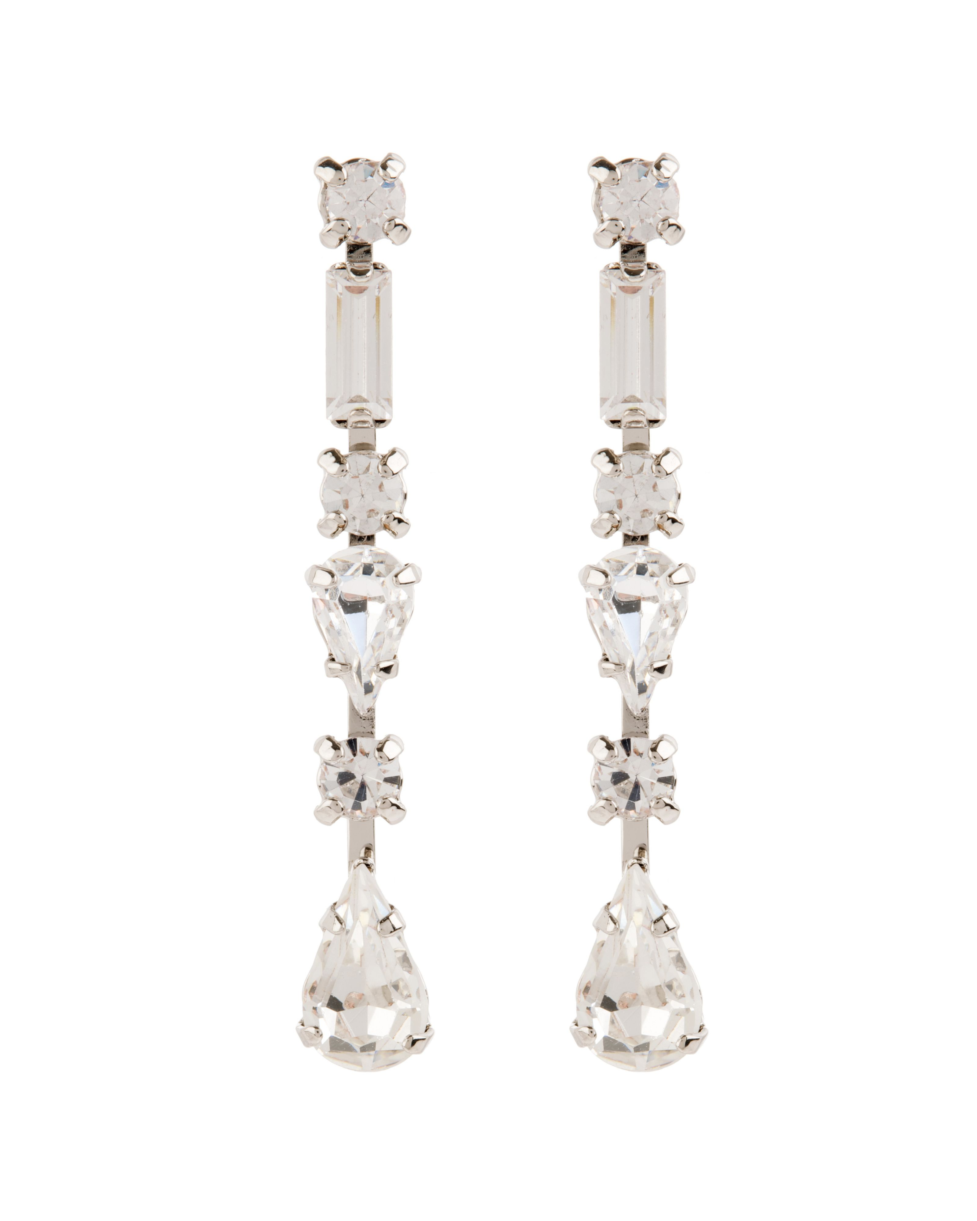 Classic crystal drop earrings