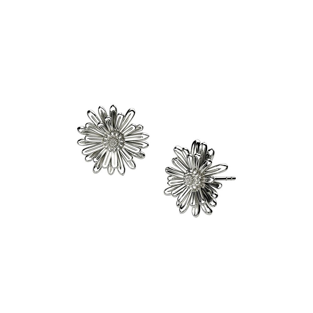 Sterling Silver Michaelmas Daisy Earrings