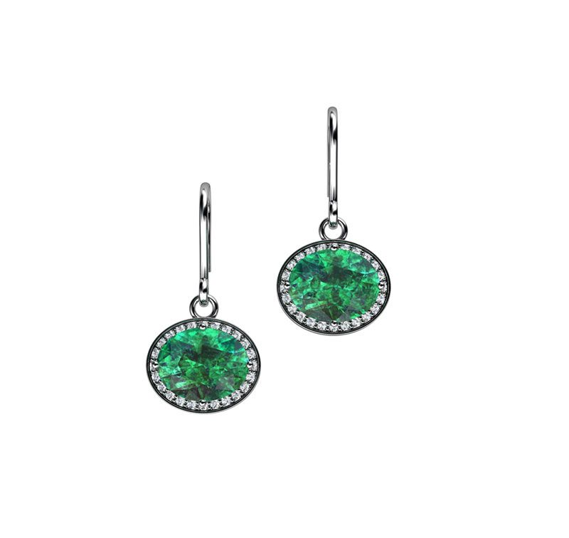 Sterling Silver Andaman Cubic Zirconia Earrings