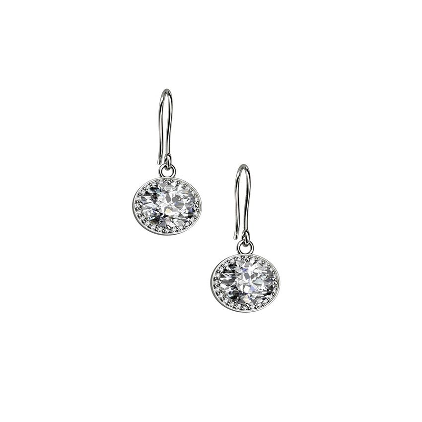Sterling Silver Clear Cubic Zirconia Earrings
