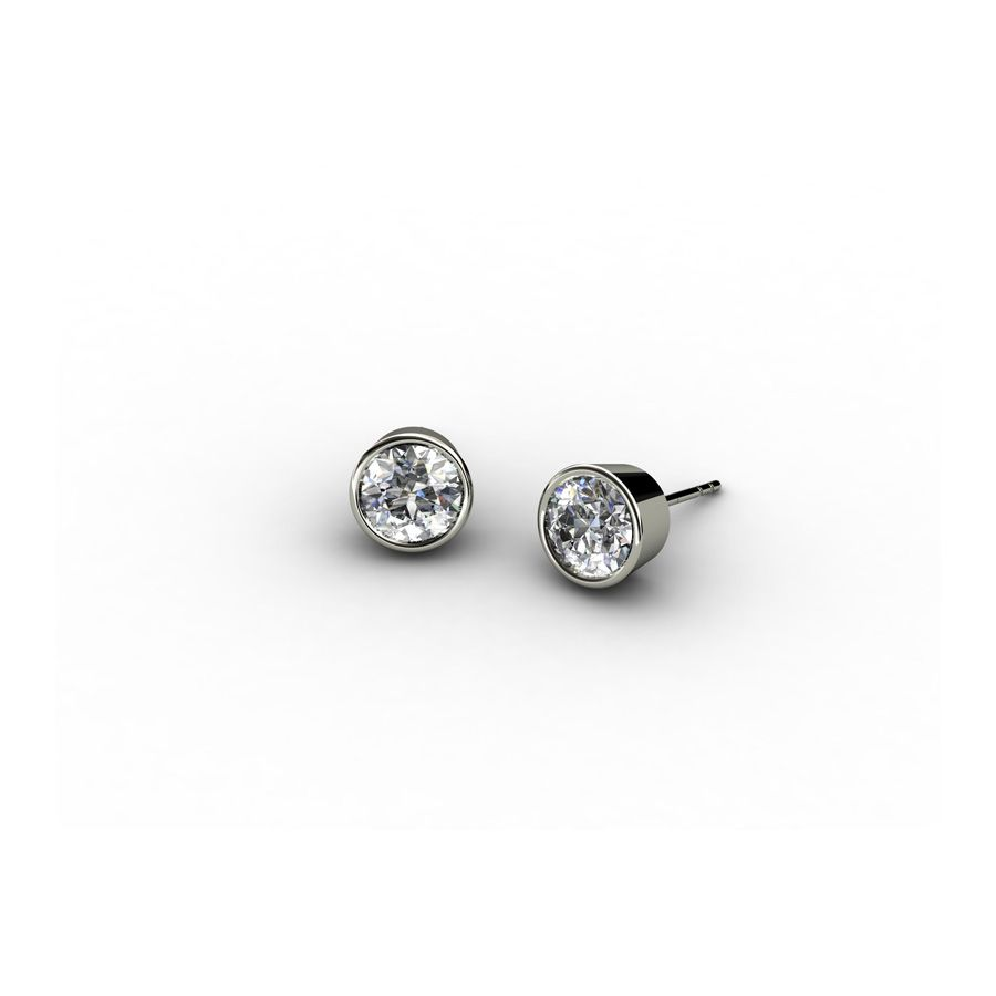 5mm Sterling Silver Clear Cubic zirconia studs