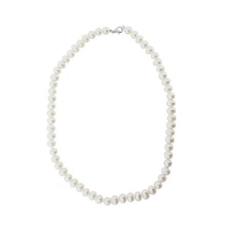 Azendi Freshwater pearl and sterling silver necklace