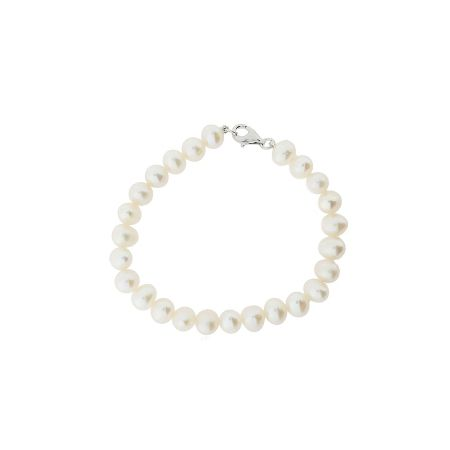 Azendi Freshwater pearl and sterling silver bracelet
