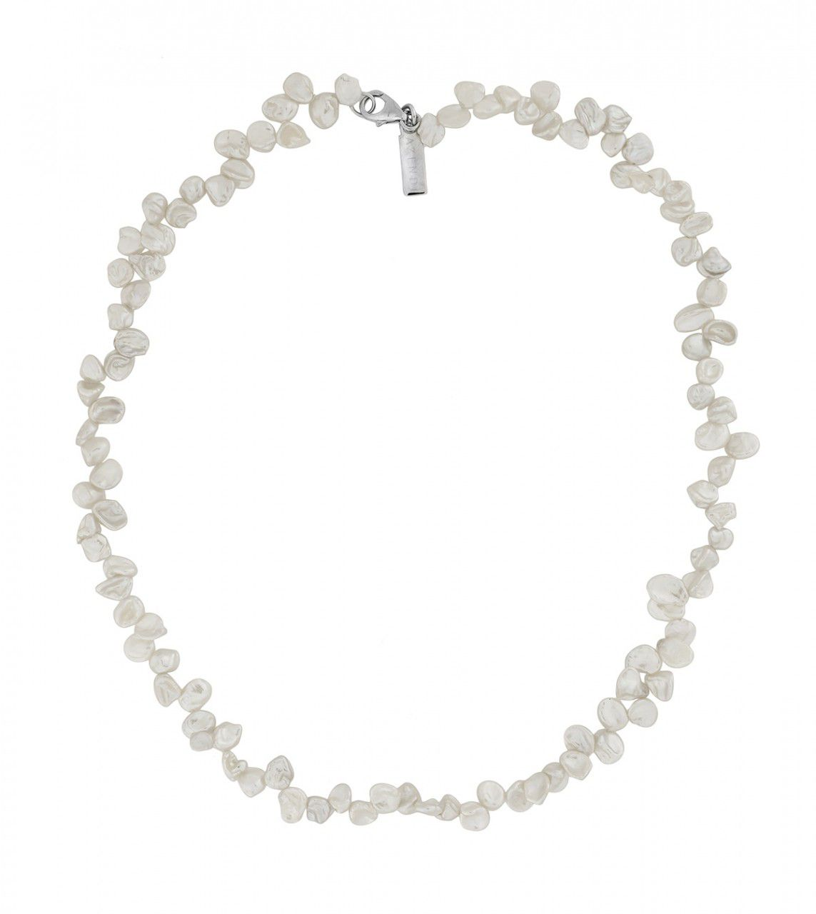 White Freshwater Keshi Pearl Necklace