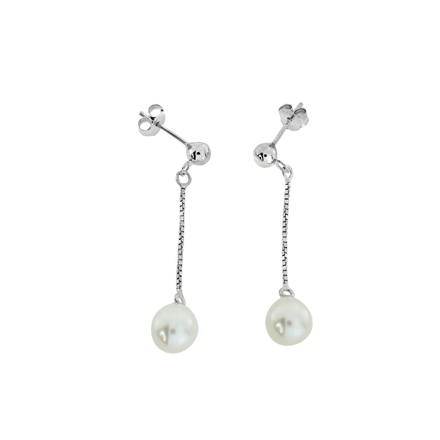 Ivory pearl drop earrings