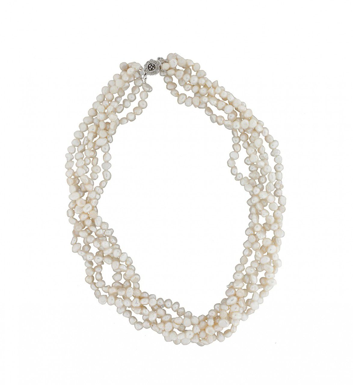 Five Strand Freshwater Pearl Necklace