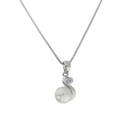 Azendi Sterling Silver and Freshwater Pearl Pendant