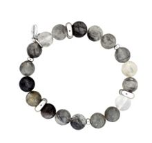 Azendi Grey Quartz Stretch Bracelet