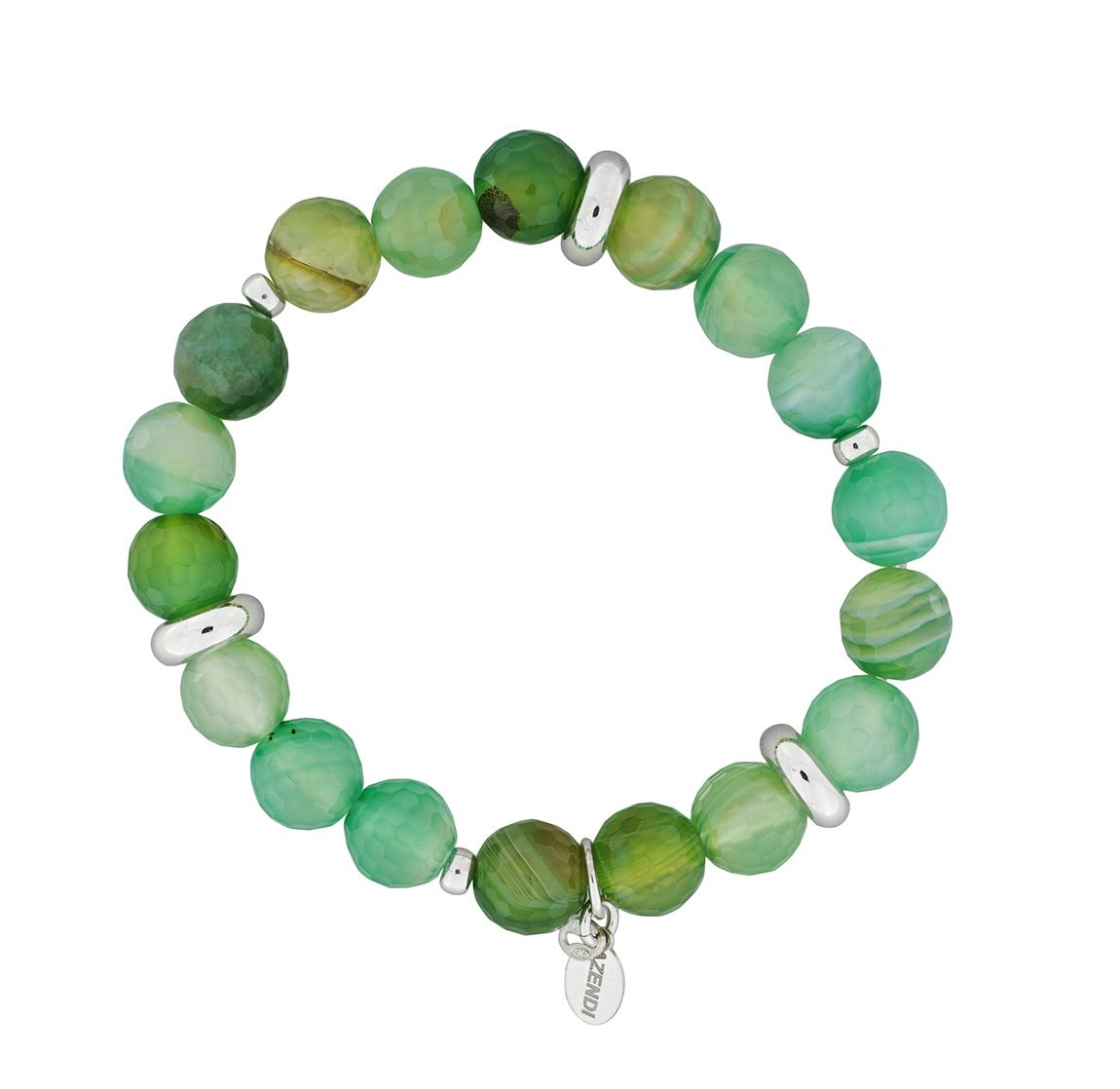 Green Agate Stretch Bracelet