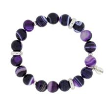 Purple Sardonyx Agate Stretch Bracelet