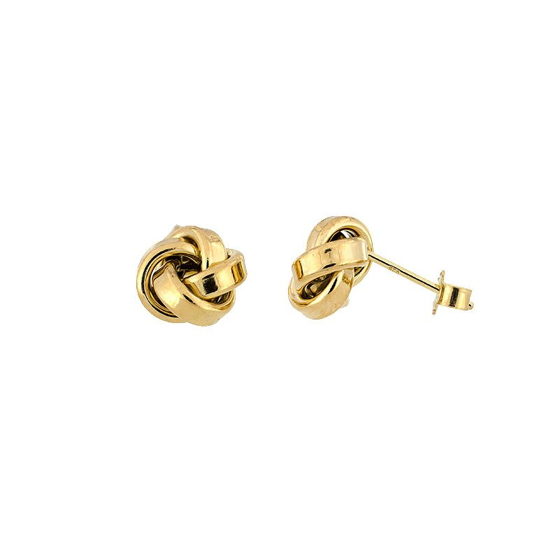 Yellow vermeil  knot earrings