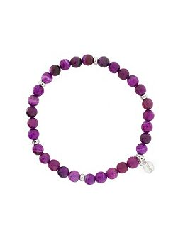 Purple agate slim bracelet