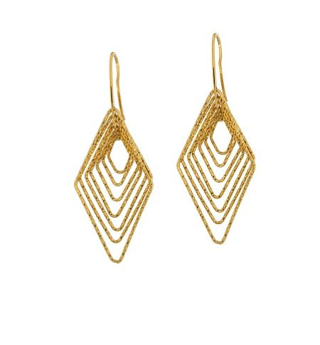 Azendi Vermeil diamond shape drops