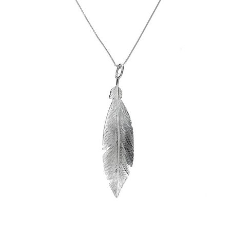 Azendi Sterling Silver Feather Pendant