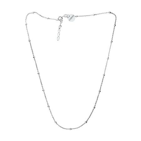 Azendi Silver Ball Chain Necklace