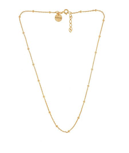 Azendi Sterling Silver/18ct Gold Vermeil Ball Necklace