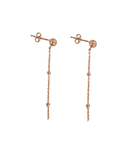 Sterling Silver/18ct Rose Gold Vermeil Earrings