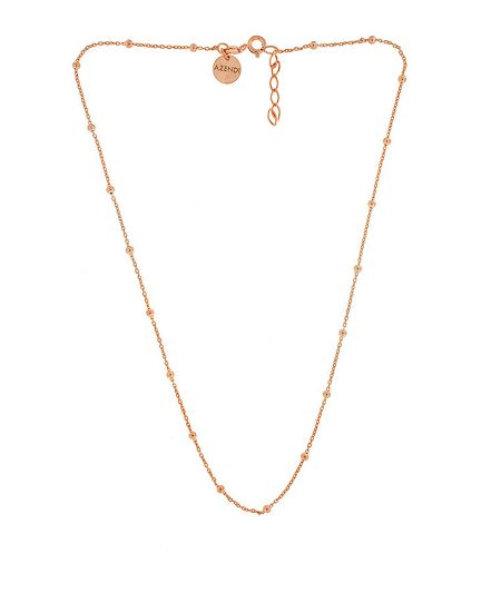 Azendi Sterling Silver/18ct Rose Gold Vermeil Necklace