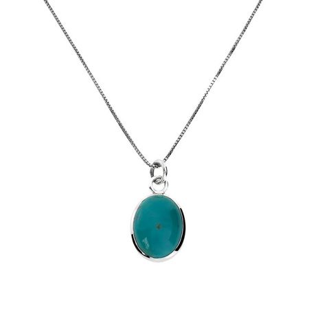 Azendi Sterling silver pendant with turquoise