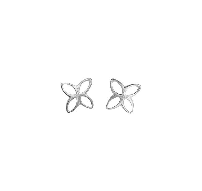 Sterling silver open butterfly studs