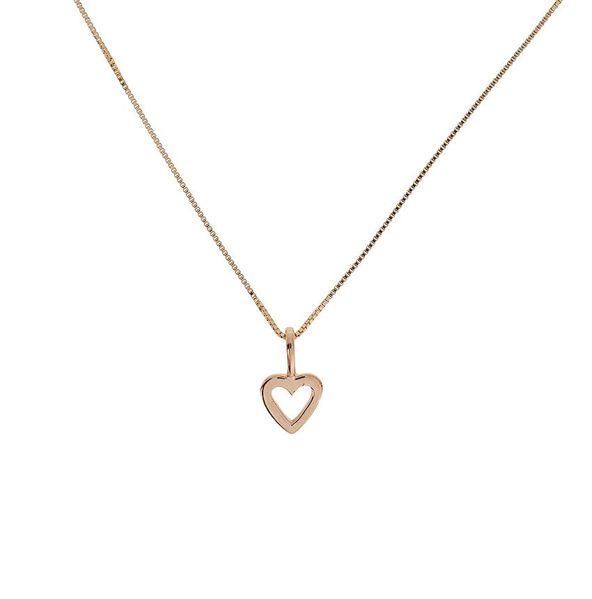 Rose gold vermeil  open heart pendant