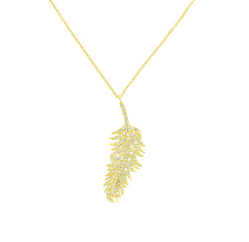 Sterling silver yellow vermeil micropave drop fea