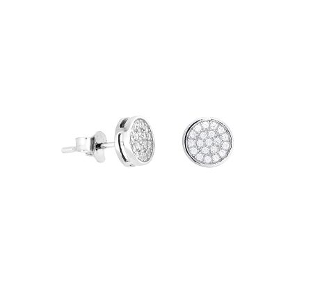 Azendi Pave stud earrings
