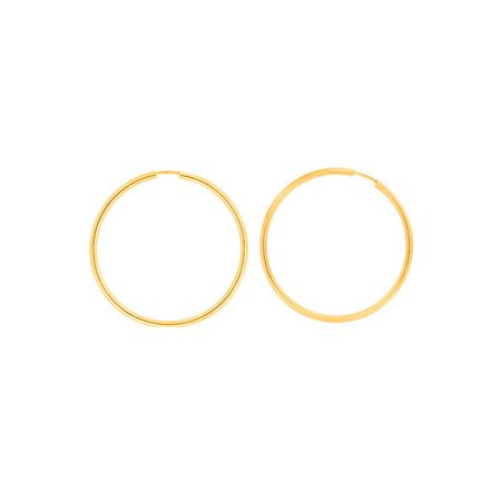 Azendi Gold plated silver hoops 4.5cm