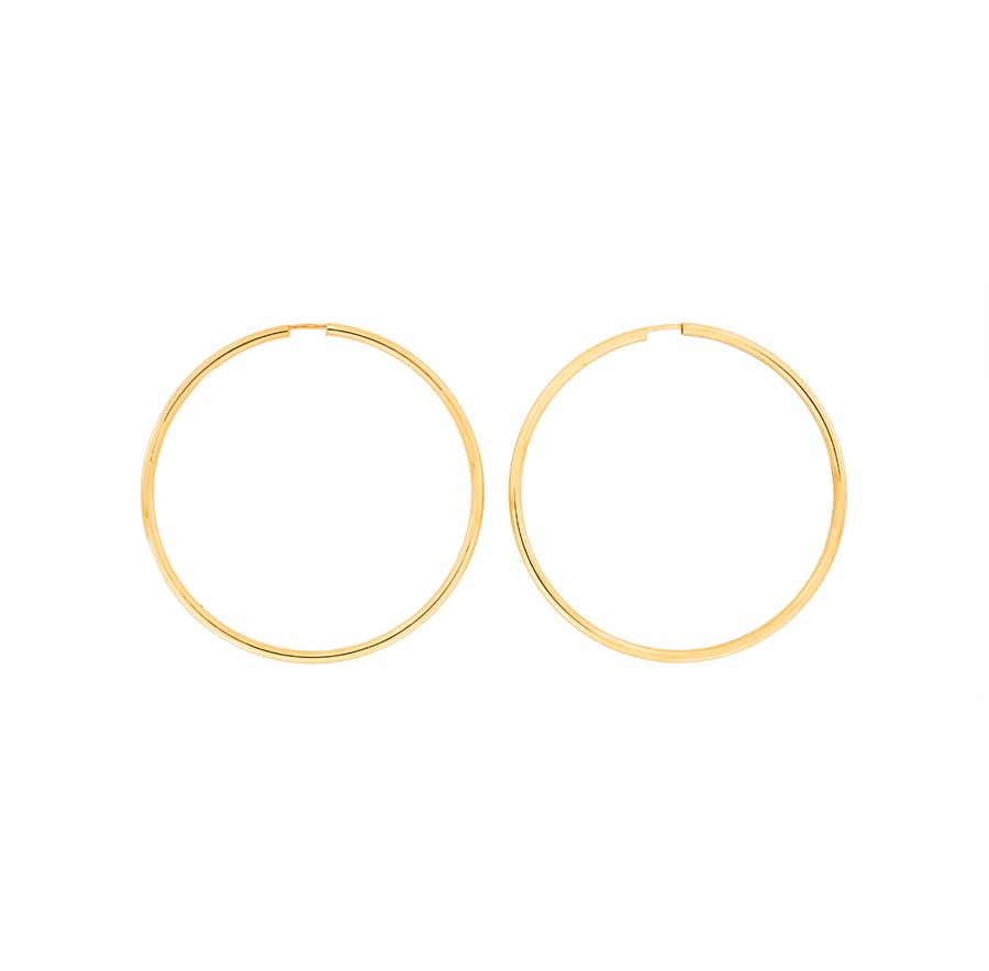 Gold plated silver hoops 5cm