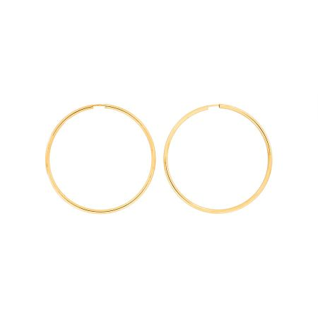 Azendi Gold plated silver hoops 5cm