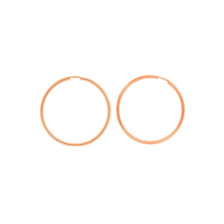 Azendi Rose gold plated silver hoops 4.5cm